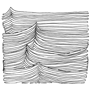 Continuous Sea Line Drawing